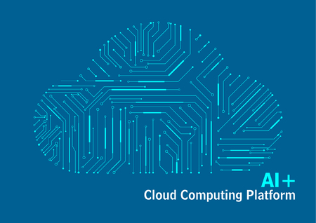 Cloud computing platform, Internet data, technology circuit diagram background