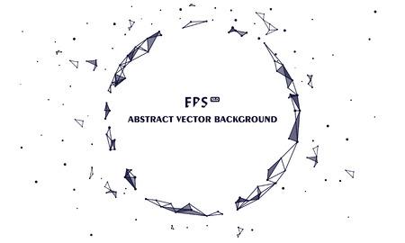 Veelhoekige mesh abstracte technische achtergrond, kunstmatige intelligentie en big data Vector Illustratie