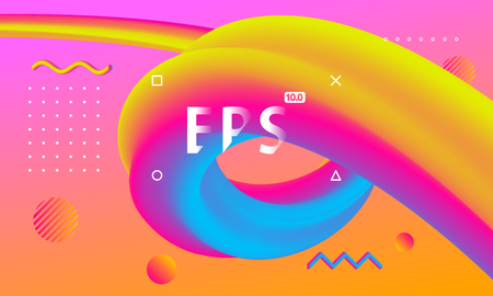 Color gradient fluid, modern stylish creative background Stock Illustratie