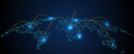 Global network connection concept