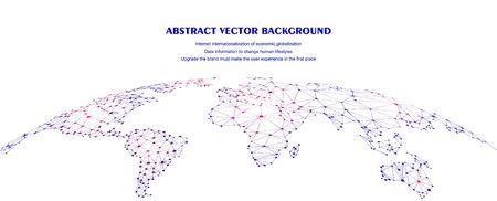 Global network connection concept Illustration