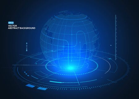 Virtual reality and science and technology background, artificial intelligence and cloud computing, big data, internet connectivity