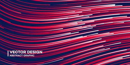 Fond de lignes colorées abstraites, illustration de fond de couleur élégante