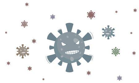 Virus and bacteria symbol illustration