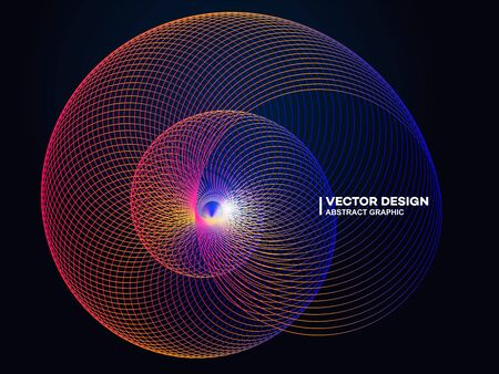 Dynamic gradient shape and circle. Modern magazine cover or poster, Electro dance music.
