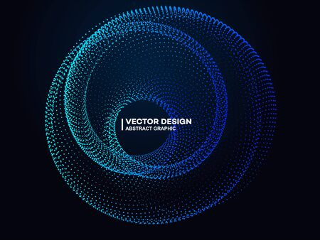The ring formed by glowing particles, future technology concepts, the meaning of computers and the Internet, artificial intelligence and big data