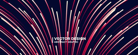 Abstract colorful lines vector background, stylish color background illustration