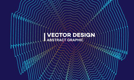 Abstract stylish gradient lines background, noise lines, music flyer, graphic design material Ilustração