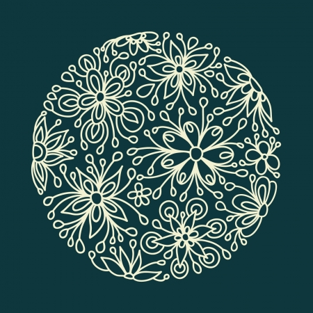 round floral background pattern Vector