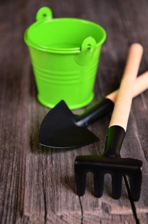 cranny: Garden tools on the gray board