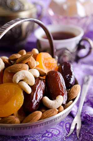 dubai: traditional Oriental feast  Stock Photo