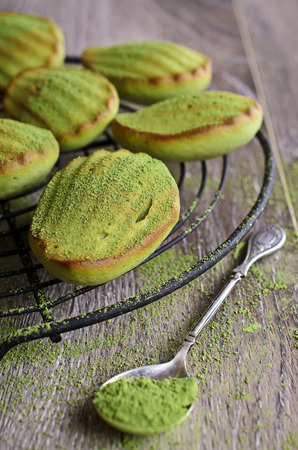 Cake Madeleine green baked powder tea matcha