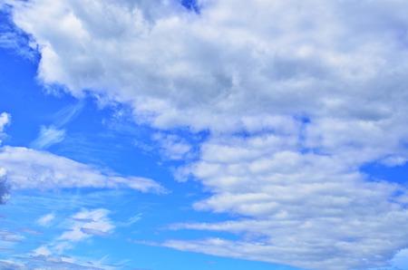 White clouds on blue sky in motion Foto de archivo
