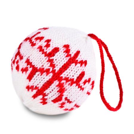 クリスマス ボール ニット ホワイト バック グラウンドの模様