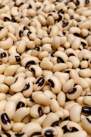 Background beans black eye. Design concept. Selective focus.