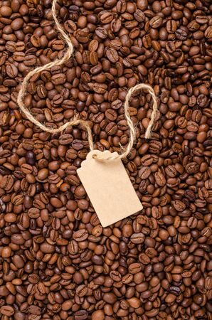 Roasted coffee beans. Design concept. Selective focus. Stock Photo