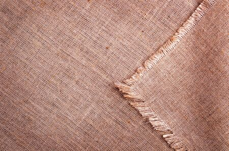 Brown burlap background.Design concept. Copy of the space. Stockfoto