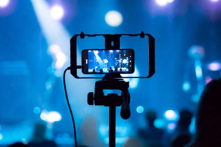 a rock concert recorded with a mobile phone