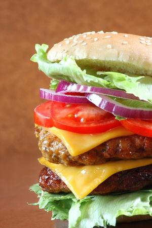 Delicious double cheeseburger  photo