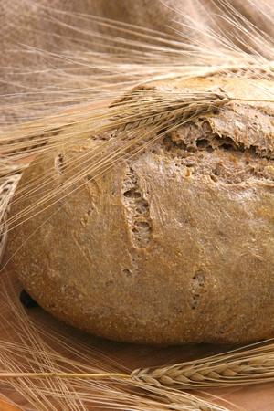 Freshly baked homemade bread photo