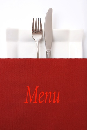 flatware: Restaurant menu, place fot text