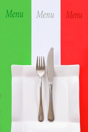 Italian style restaurant menu, Italian cuisine photo