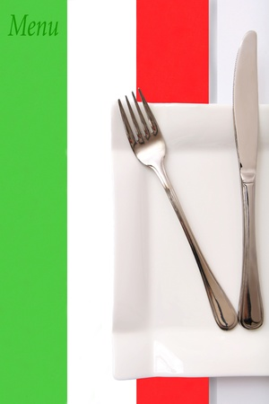 Italian style restaurant menu, Italian cuisine photo