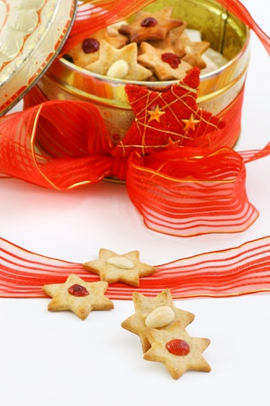 Christmas biscuit stars photo