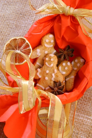 Christmas biscuits nice decorated Stock Photo - 12457237