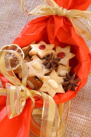 Christmas biscuits nice decorated photo