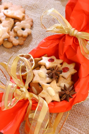 Christmas biscuits nice decorated Stock Photo - 12457219