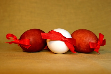 Colored easter eggs photo