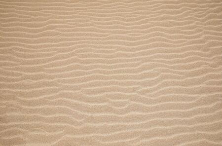 Texture de fond de dunes de sable blanc. Texture de plage et de sable. Motif de sable. Belle dune de sable au lever du soleil dans le désert. Étapes sur le sable de la plage.