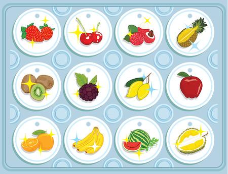 mezcla de frutas: fruit vector,mixed Vectores