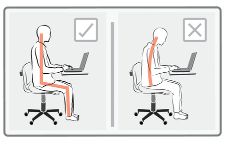 human  sitting play computer vector