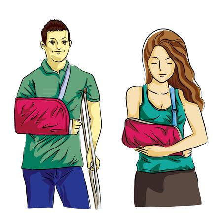 broken arm: human broken arm