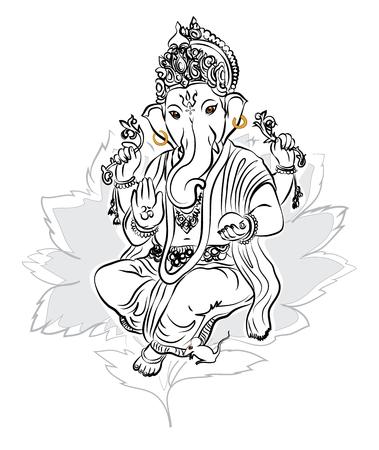 lord ganesha: Ganesha de dibujo vectorial