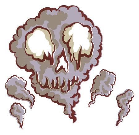 Smoke  was gathered become a skull.