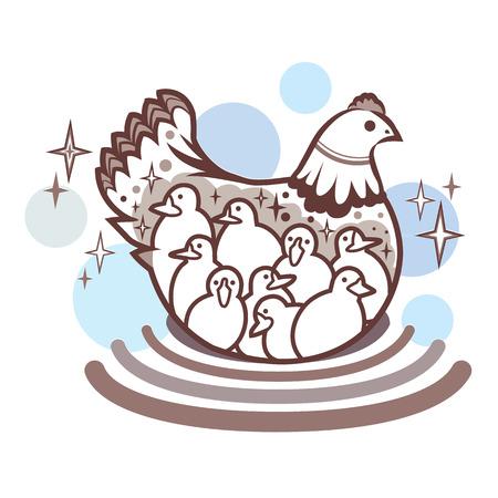 sitter: chicken illustration