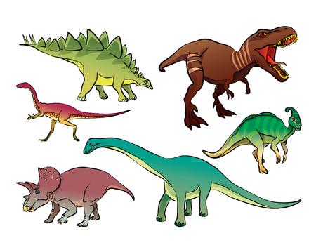 velocipede: dinosaur cartoon vector Illustration