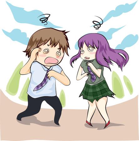 dizzy, boy and girl unhealthy