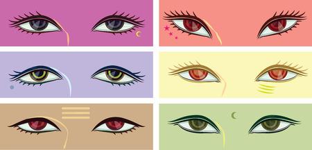 cornea: set of 6 eye motion