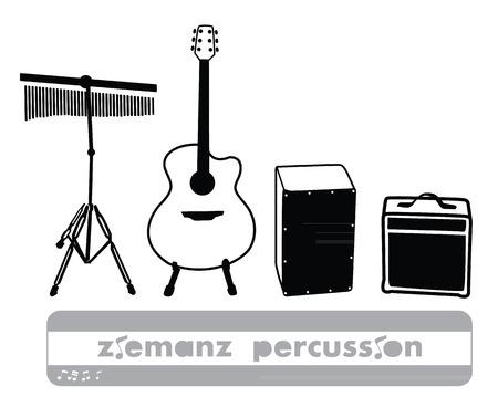 percussion: percussion vector cartoon Illustration