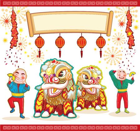 cartoon envelope: Chinese celebrate illustration