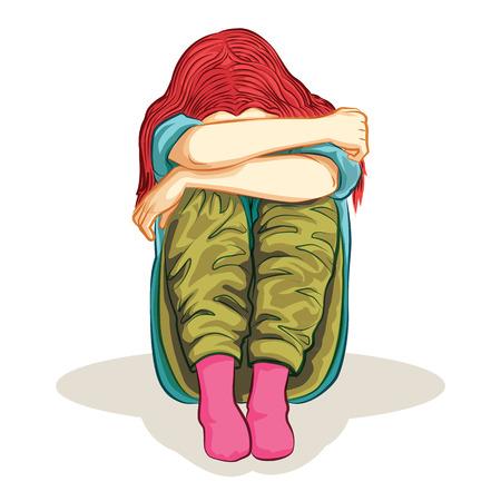 desperation: woman was lonely feeling cartoon