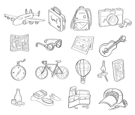 accessory: travel accessory detail drawing vector