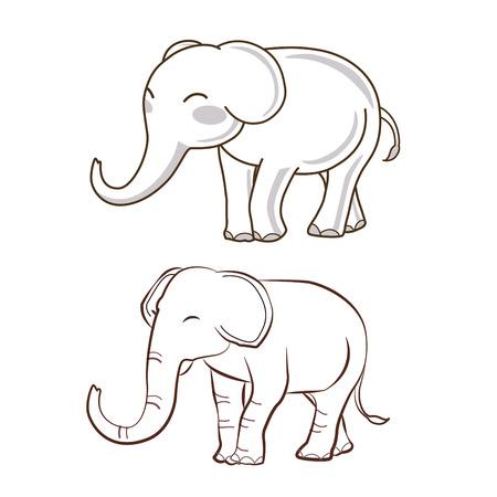 dibujo del estilo del elefante esquema 2