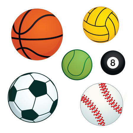 Different types of balls for various kind of sports