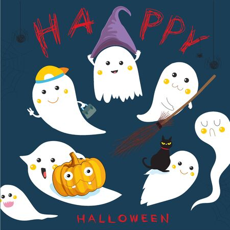 the hapiness ghost in haloween festival