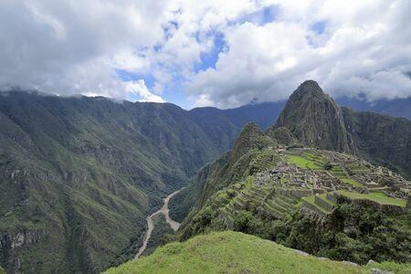 The Machu Picchu in the Peru